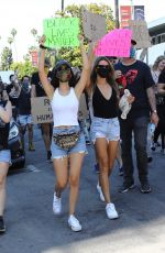 VICTORIA JUSTICE and MADISON REED Join a Protest in Los Angeles 06/03/2020