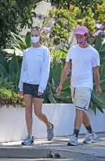 ABBY CHAMPION and Patrick Schwarzenegger Out in Santa Barbara 07/04/2020
