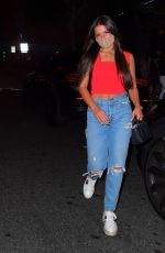 ADDISON RAE Leaves Boa Steakhouse in West Hollywood 07/13/2020