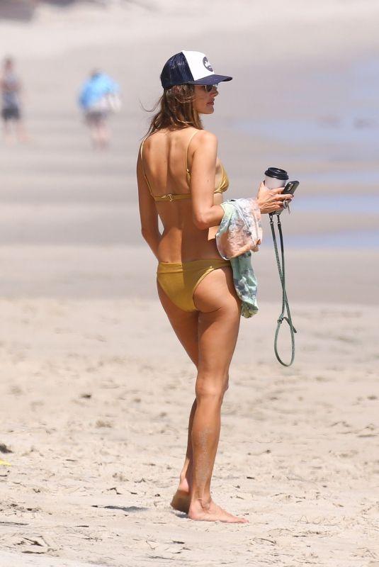ALESSANDRA AMBROSIO in Bikini on the Beach in Malibu 07/21/2020