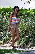 ALESSANDRA AMBROSIO in Cut-off Denim Shorts Out in Santa Monica 07/11/2020