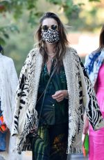 ALESSANDRA AMBROSIO Out for Dinner in Malibu 07/02/2020