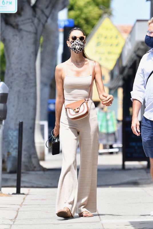 ALESSANDRA AMBROSIO Out Shopping in Santa Monica 07/26/2020