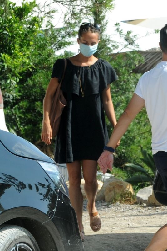 ALICIA VIKANDER and Michael Fassbender Out in Ibiza 07/21/2020