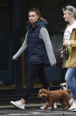 ALISON KING Out with Her Dog in Cheshire 06/30/2020