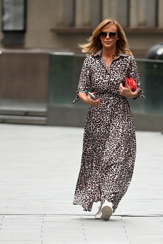 AMANDA HOLDEN Arrives at Global Radio in London 07/09/2020