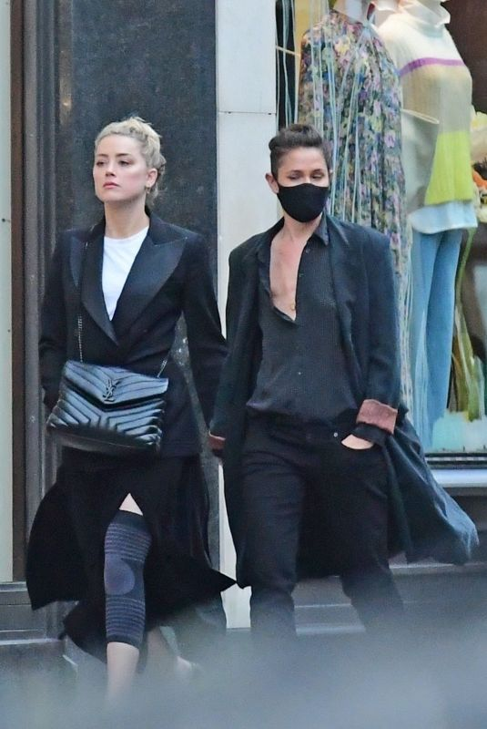 AMBER HEARD and BIANCA BUTTI Out in London 07/15/2020