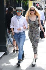 AMBER HEARD and BIANCA BUTTI Out in London 07/30/2020