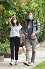 ANA DE ARMAS and Ben Affleck Out with Their Dog in Venice 07/24/2020