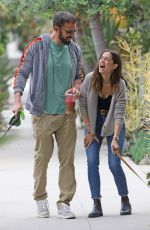 ANA DE ARMAS and Ben Affleck Out with Their Dog in Venice Beach 07/01/2020