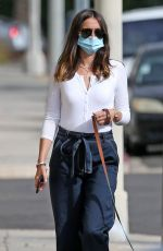 ANA DE ARMAS Out with Her Dog in Venice Beach 07/22/2020