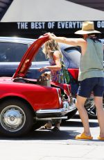 ANNABELLE WALLIS and Chris Pine Shopping at Lassens Natural Foods in Los Angeles 07/07/2020