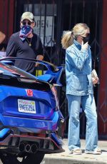 ANNABELLE WEALLIS in Double Denim Out for Coffee in Los Angeles 07/01/2020
