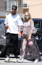 ASHLEE SIMPSON and Evan Ross Out in Los Angeles 06/29/2020