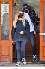 ASHLEY BENSON and G-Eazy Out for Lunch in Los Angeles 07/01/2020