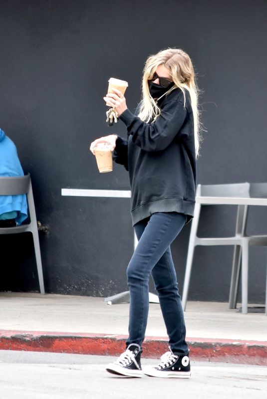ASHLEY BENSON Out for Coffee in Los Angeles 07/01/2020