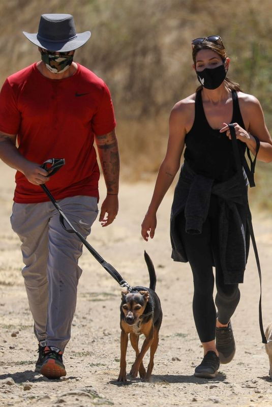 ASHLEY GREENE and Paul Khoury Out Hiking in West Hollywood 07/16/2020