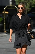 ASHLEY ROBERTS All in Black Leaves Global Radio in London 07/30/2020