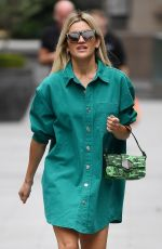 ASHLEY ROBERTS Arrives at Global Radio Studios in London 07/08/2020
