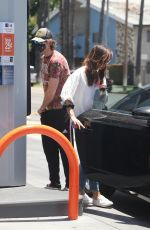 AUBREY PLAZA at a Gas Station in Los Feliz 06/30/2020