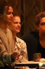 BARBARA PALVIN and Dylan Sprouse Out for Dinner with Friends in Los Feliz 07/24/2020