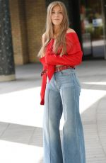 BECKY HILL Leaves Sunday Brunch TV Show in London 07/12/2020