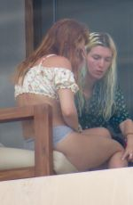 BELLA THORNE at Her Hotel Balcony in Cabo San Lucas 07/15/2020