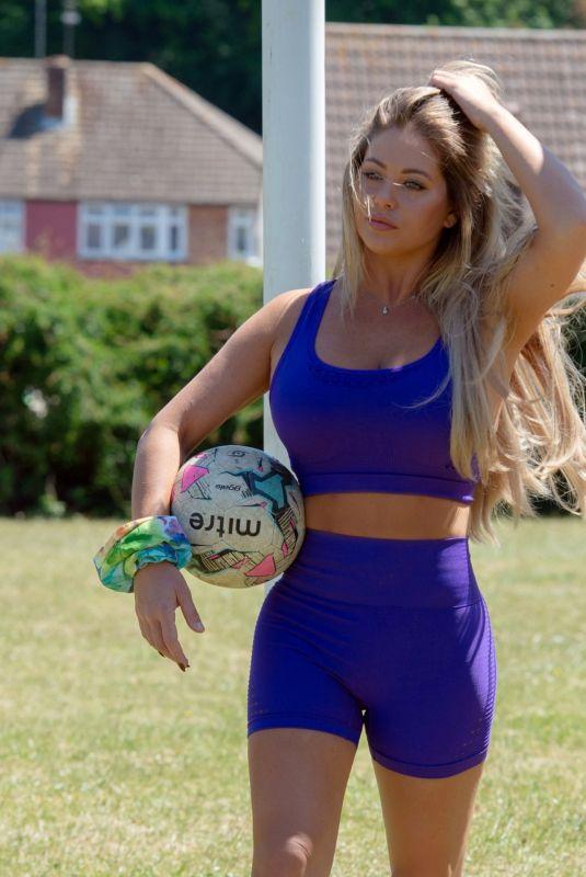 BIANCA GASCOIGNE Workout at a Park in Kent 07/14/2020