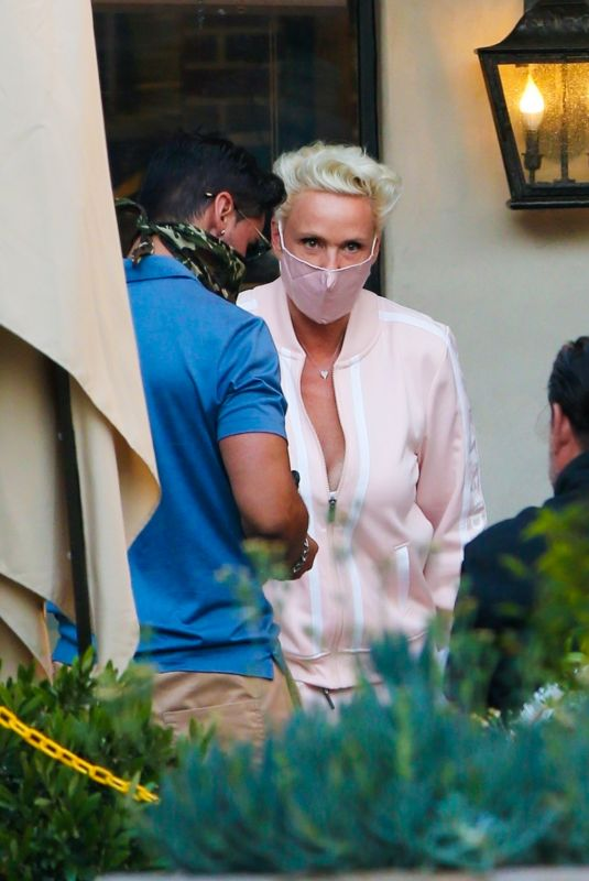 BRIGITTE NIELSEN Out for Dinner for Her 57th Birthday 07/15/2020