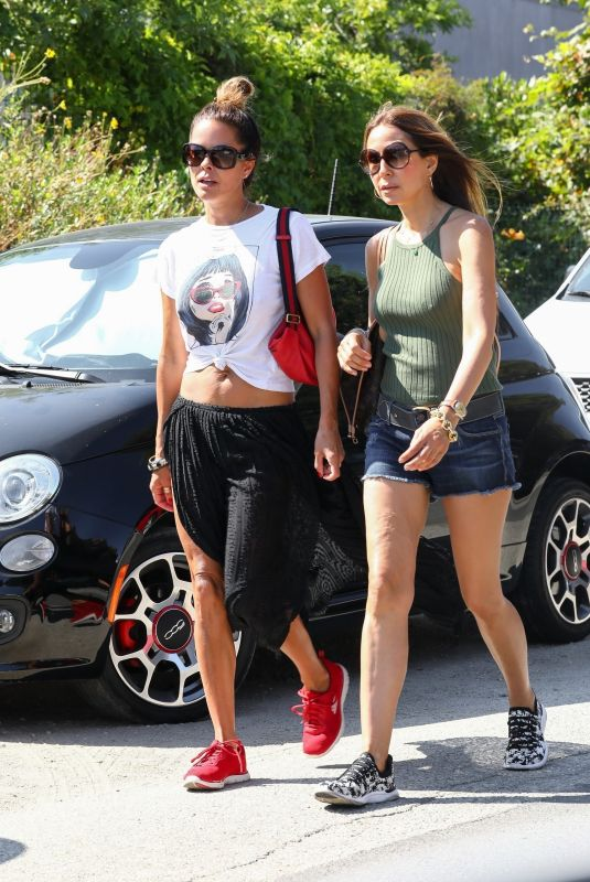 BROOKE BURKE in Denim Shorts Out with a Friend in Malibu 07/05/2020