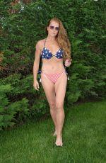 BROOKE SHIELDS in Bikini at Pool at Her Home in The Hamptons 07/06/2020