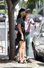 CAMILA MENDES Out for Coffee with a Friend in Los Angeles 07/21/2020
