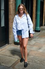 CAMILLA BERESFORD in Denim Shorts Out at Covent Garden 07/06/2020