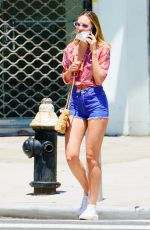 CANDICE SWANEPOEL in Denim Shorts Out in New York 07/14/2020