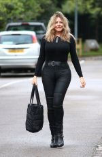 CAROL VORDERMAN Arrives at BBC Wales in Cardiff 07/25/2020