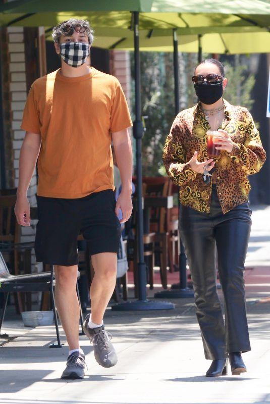 CHARLI XCX Out with Her Boyfriend in Los Feliz 07/23/2020