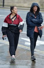 CHARLOTTE CROSBY, SOPHIE KASAEI and ABBIE HOLBORN Out Hikiing on a Rainy Day 07/10/2020