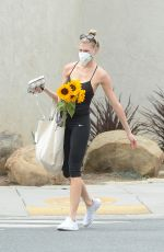 CHARLOTTE MCKINNEY Shoping at a Farmers Market in Los Angeles 07/02/2020