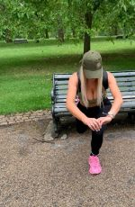 CHLOE FERRY Workout at a Park in London 07/08/2020
