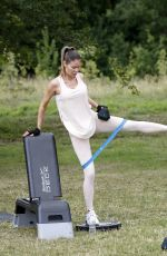 CHLOE SIMS Workout at a Park in London 07/07/2020