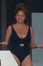 CHRISSY TEIGEN in Swimsuit on Vacation in Mexico 07/06/2020