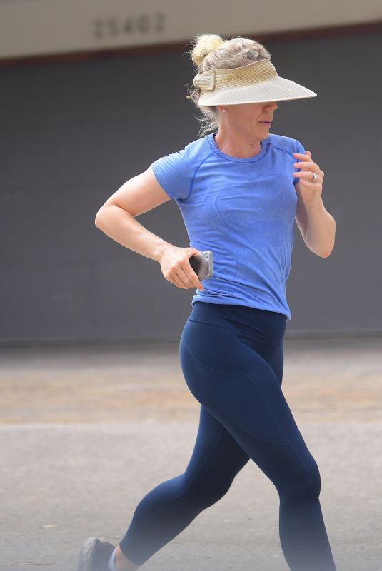 CHRISTINA APPLEGATE Out Jogging in Malibu 07/06/2020