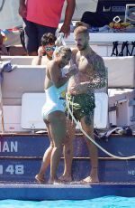 CHRISTINA MILIAN in Swimsuit at a Boat in St. Tropez 07/20/2020