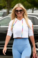 CHRISTINE MCGUINNESS Shopping at Marks and Spencers in Cheshire 07/09/2020