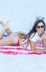 CLAUDIA ROMANI in Bikini at a Beach in Miami 07/02/2020