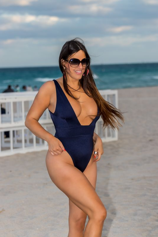 CLAUDIA ROMANI in Swimsuit at South Beach 07/26/2020