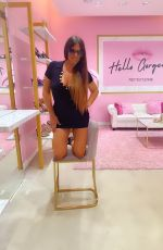 CLAUDIA ROMANI Visiting the Influencers / VIPs Only Pretty Little Thing Show-room in Miami Beach 07/08/2020