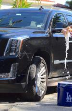 COURTNEY STODDEN in Bikini Washing Her Car in Los Angeles 06/29/2020