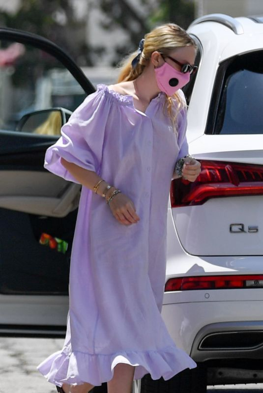 DAKOTA FANNING Arrives at a Spa in Beverly Hills 07/06/2020