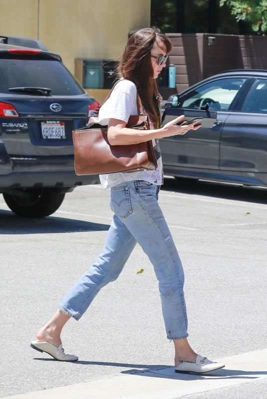 DAKOTA JOHANSON Visits Her Doctor in Los Angeles 07/13/2020